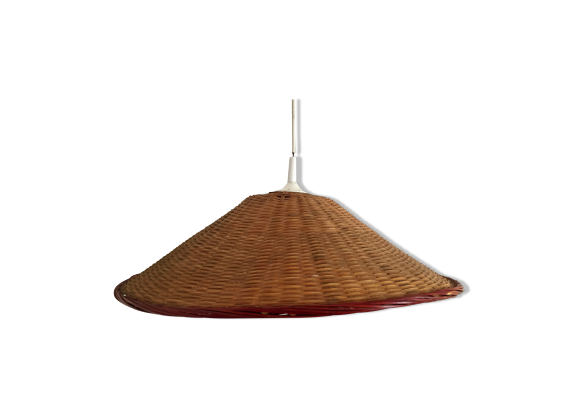Suspension en osier vintage rotin et osier bois couleur bon tat scandinave - Suspension en osier ...