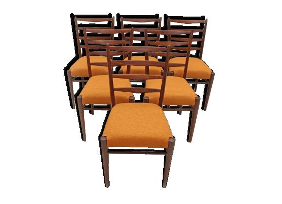 Ensemble de six chaises sixties