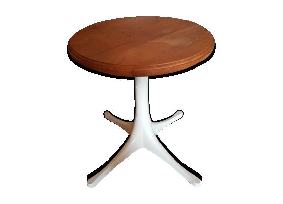 table desserte vintage ann es 70 m tal blanc bon tat vintage. Black Bedroom Furniture Sets. Home Design Ideas
