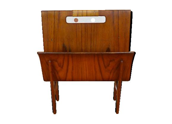 porte revues danois ejnar larsen aksel bender madsen vintage 1950 bois mat riau marron. Black Bedroom Furniture Sets. Home Design Ideas
