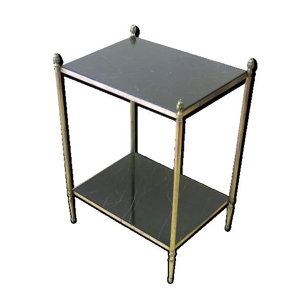 Table d 39 appoint en marbre et laiton 1960 39 s laiton dor bon tat vintage - Table d appoint dore ...