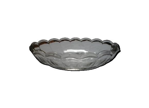 Ravier ovale en verre