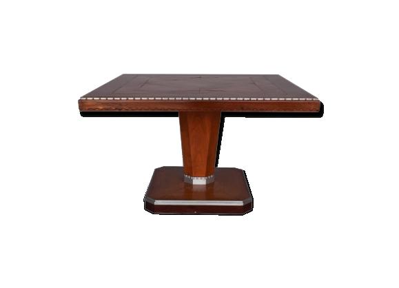Table d'appoint carré en palissandre art déco 1930