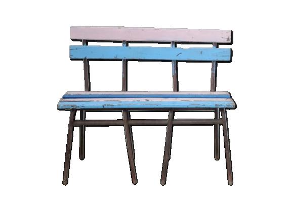 banc pour enfant vintage bois mat riau multicolore bon tat vintage. Black Bedroom Furniture Sets. Home Design Ideas