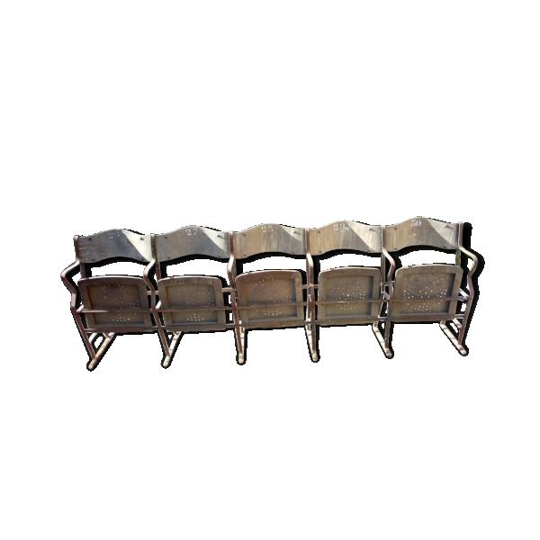 banc de cin ma bois mat riau marron bon tat industriel 4ec6736d0cb8381190f2954fc29ba2f9. Black Bedroom Furniture Sets. Home Design Ideas