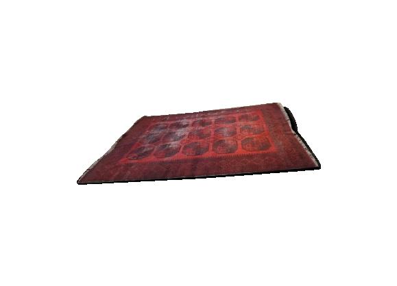 Tapis afghan vintage motif pied d'éléphant 280x212 cm