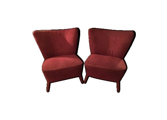 Paire de fauteuils cocktail des années 50