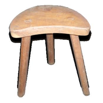 tabouret charlotte perriand cuir marron bon tat. Black Bedroom Furniture Sets. Home Design Ideas