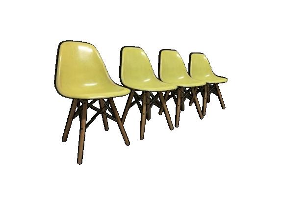 Ensemble de 4 chaises par Charles et Ray Eames pour Herman Miller 1960s