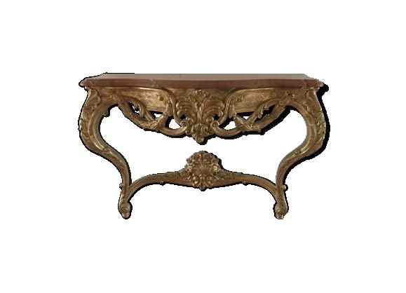 Console en bois doré de style Louis XV 1970
