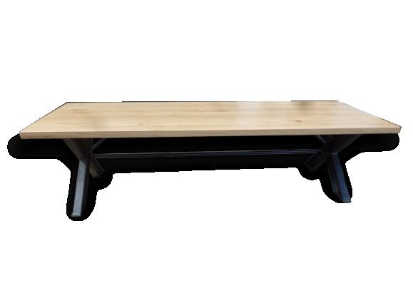 TABLE INDUSTRIELLE PIEDS XIPN PLATEAU CHENE DE 3M