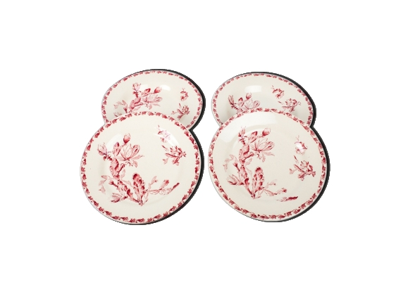 Lot de 4 assiettes en porcelaine opaque de Gien
