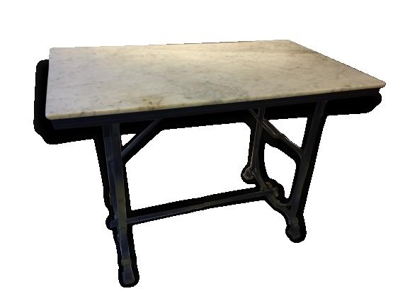 table bistrot en marbre le fait main. Black Bedroom Furniture Sets. Home Design Ideas