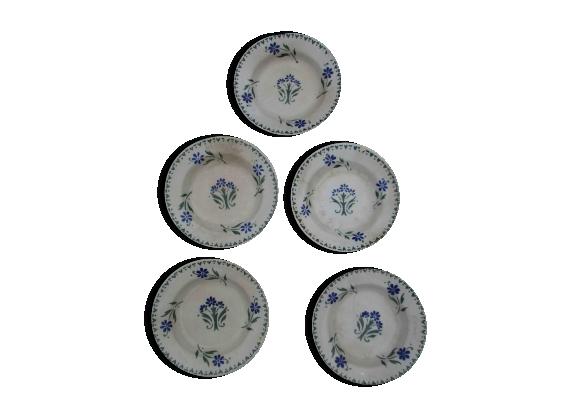 Assiettes creuses porcelaine de gien
