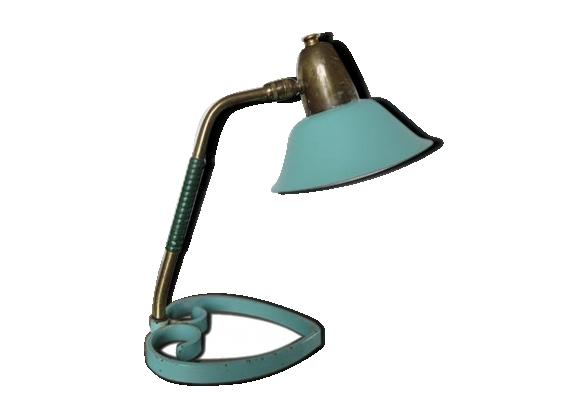 Lampe cocotte à rotule vert pale typique années 50 60