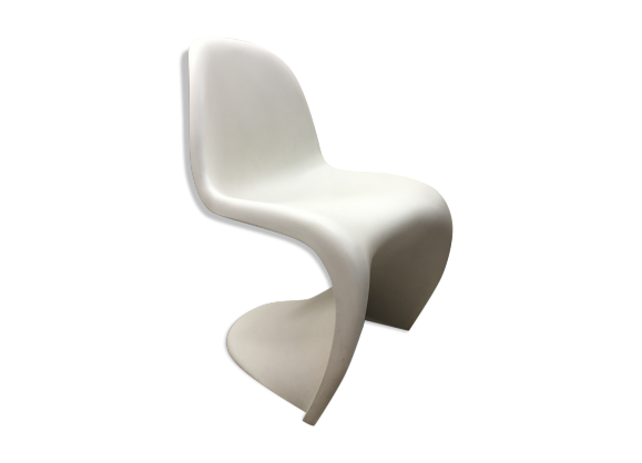 chaise verner panton blanche plastique blanc bon. Black Bedroom Furniture Sets. Home Design Ideas