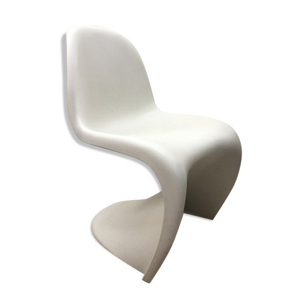 chaise verner panton blanche plastique blanc bon tat design. Black Bedroom Furniture Sets. Home Design Ideas