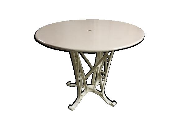 Table ronde fer - Table ronde de jardin en fer ...