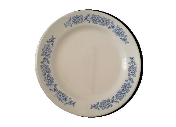 Set de 6 petites assiettes blanches petites fleurs bleues