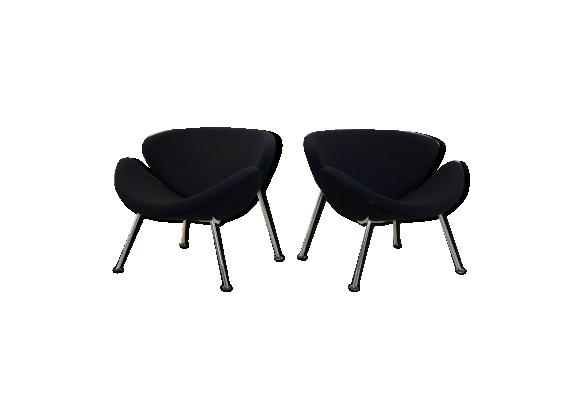 Paire de fauteuils F437 Orange Slice par Pierre Paulin pour Artifort