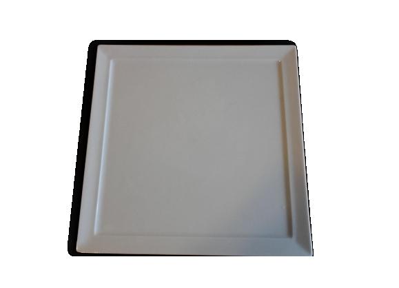 Plat carré en porcelaine blanche 'bernardaud'