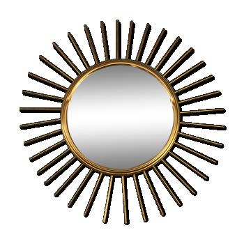 Miroirs vintage d 39 occasion for Miroir soleil metal