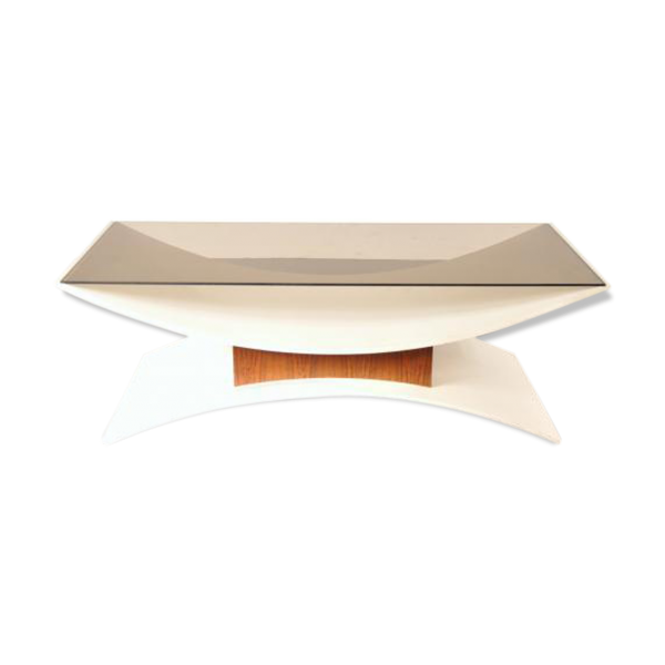 Table basse en verre fume - Table basse blanc verre ...