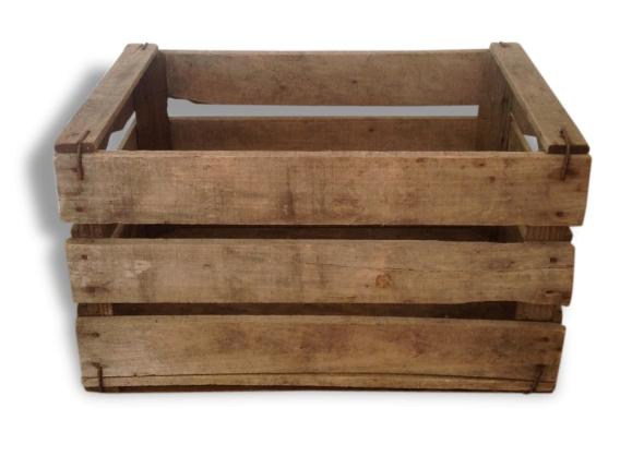 vieille caisse bois bois mat riau marron dans son jus vintage 22356. Black Bedroom Furniture Sets. Home Design Ideas