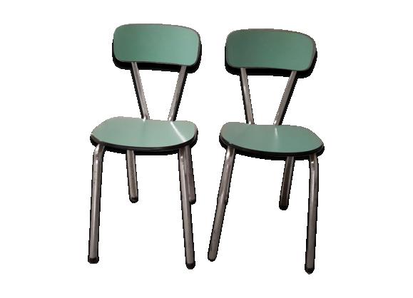 chaises en formica mint ann es 60 formica vert bon tat vintage. Black Bedroom Furniture Sets. Home Design Ideas