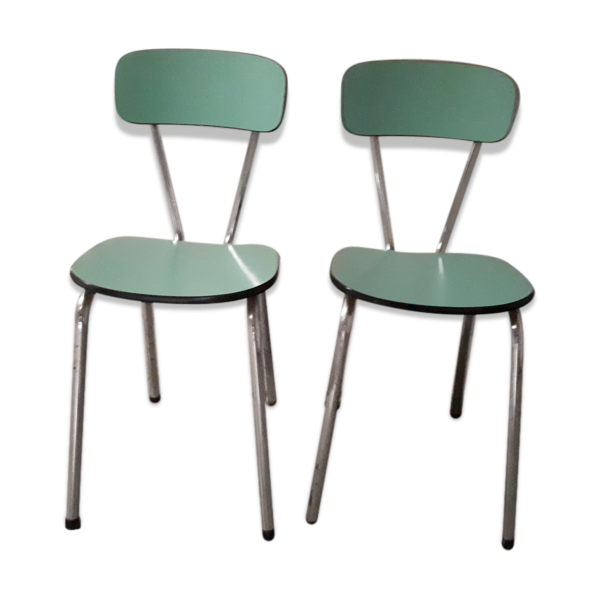 chaises en formica mint ann es 60 formica vert bon tat vintage. Black Bedroom Furniture Sets. Home Design Ideas