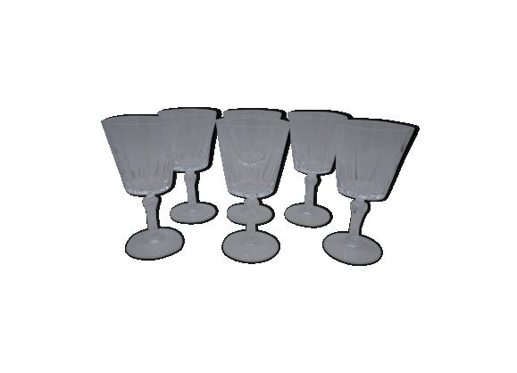 Série de 6 verres à pied
