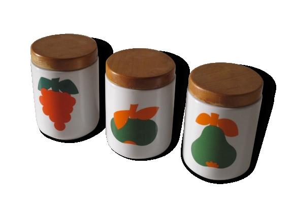 3 pots en céramique vintage