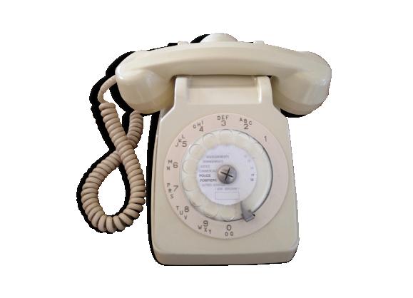 t l phone socotel 63 blanc ann es80 bak lite blanc bon tat vintage. Black Bedroom Furniture Sets. Home Design Ideas