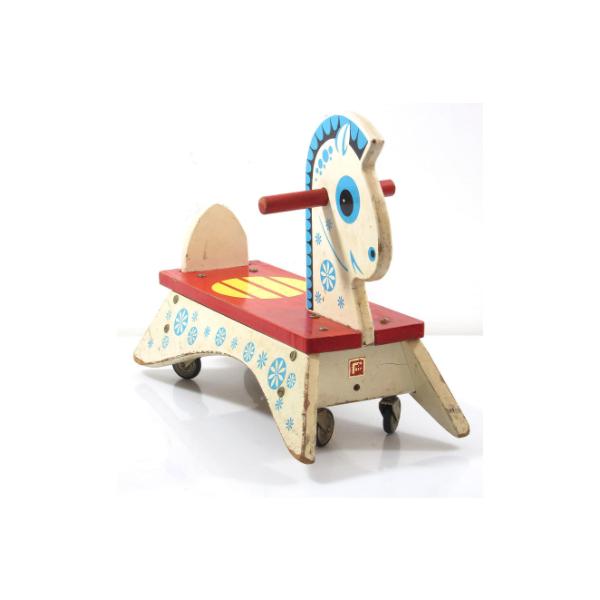 cheval roulette pour enfant ann es 50 bois mat riau. Black Bedroom Furniture Sets. Home Design Ideas