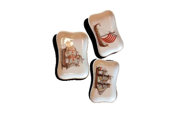 Ensemble de vide-poches porcelaine de Limoges