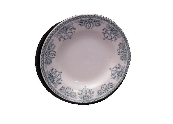 Assiette creuse faïence de st Amand début 20eme,modèle louis XVI