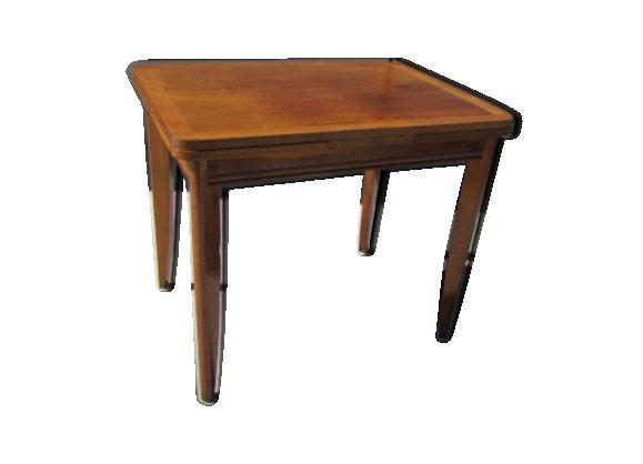 table des ann es 60 avec rallonges bois mat riau bois couleur bon tat scandinave. Black Bedroom Furniture Sets. Home Design Ideas