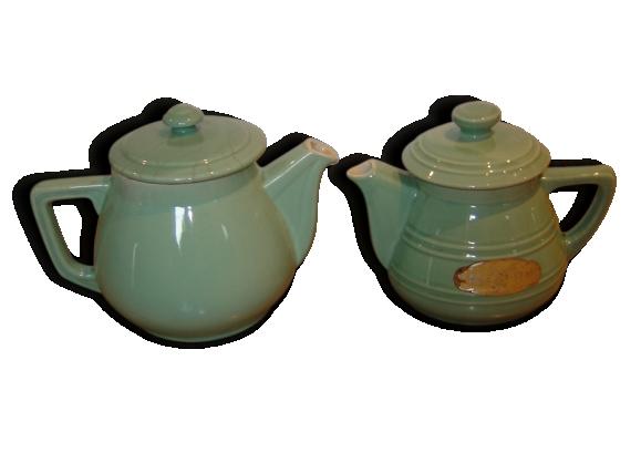 Cafetières vertes émeraudes en porcelaine