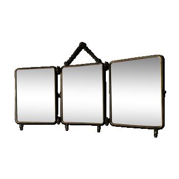 Miroirs vintage d 39 occasion - Miroir de barbier triptyque ...
