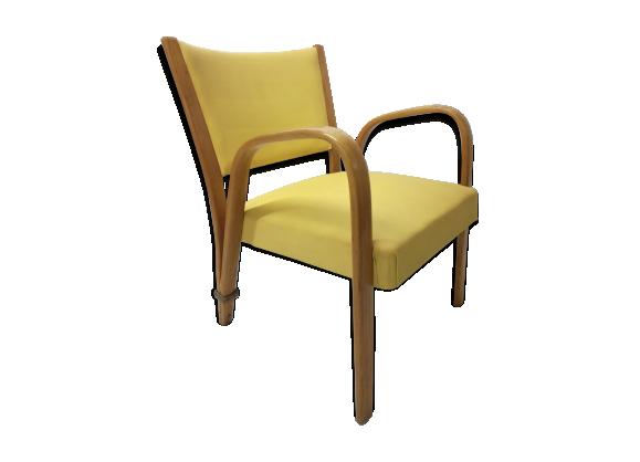 fauteuil steiner ann es 50 bois mat riau jaune. Black Bedroom Furniture Sets. Home Design Ideas