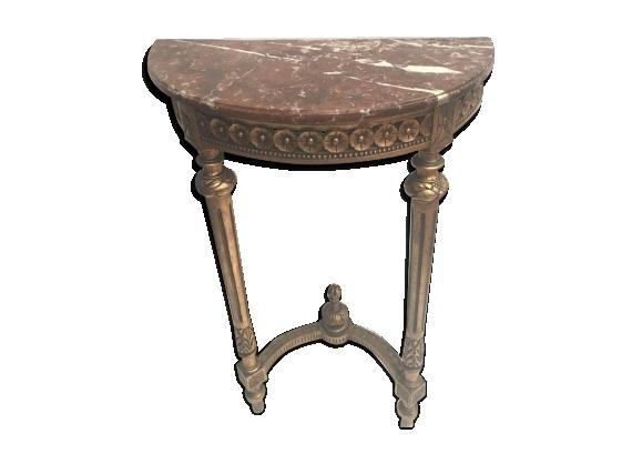 Console de style Louis XVI en bois doré