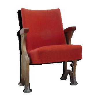 Ancien fauteuil de cinéma années 60