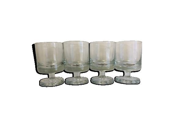 Lot de 4 verres à pied
