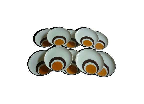 10 assiettes à dessert porcelaine vintage Winterling Bavaria