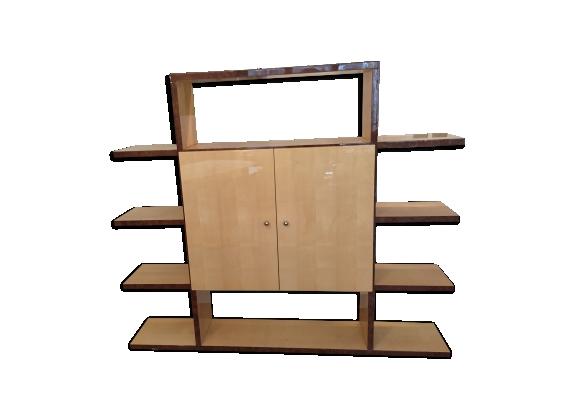 Étagère bibliothèque en bois sycomore époque art déco