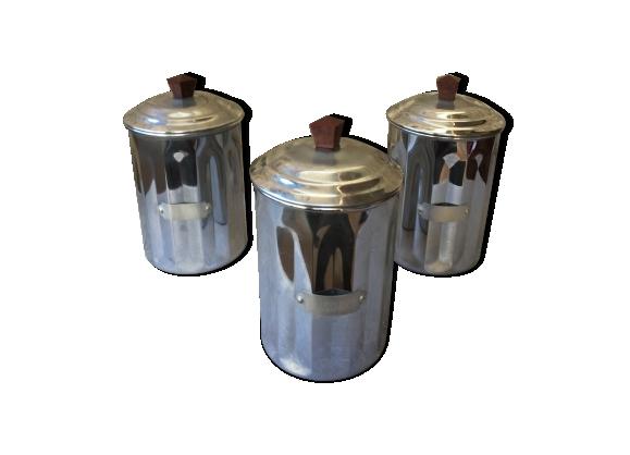 Serie de pots à épices vintage