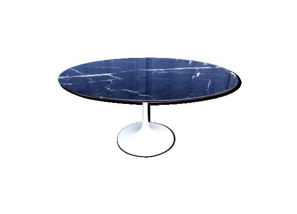 Table basse Knoll design Eero Saarinen marbre noir