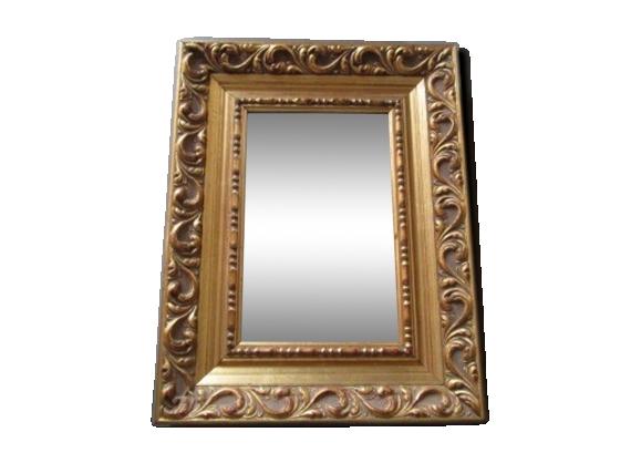 Miroir baroque doré 30x39