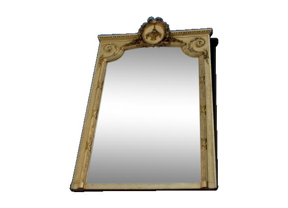 grand miroir dor epoque napoleoniii pierre et pl tre. Black Bedroom Furniture Sets. Home Design Ideas