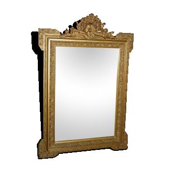 Miroir plâtre doré